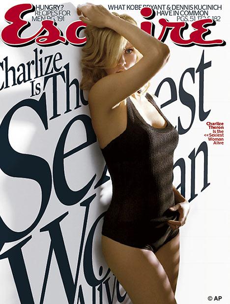 Charlize Theron na Esquire. A mulher mais sexy do mundo.