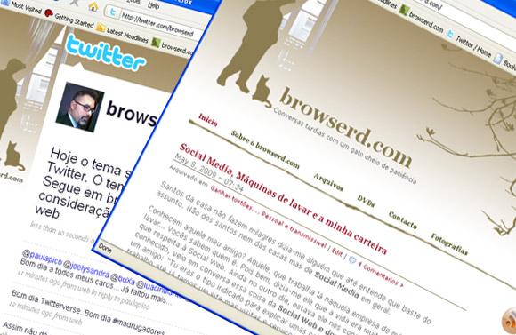 Browserd: O Twitter e o Blog