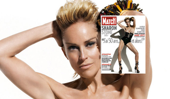 Sharon Stone na capa da Paris Match
