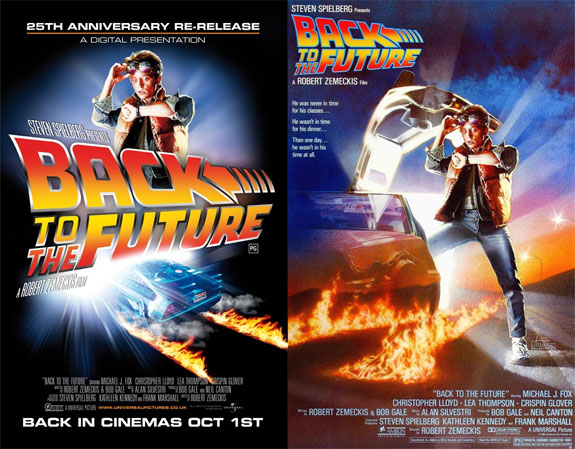 back to the future poster new and old