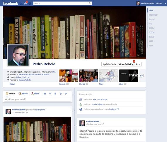 A nova Facebook Timeline