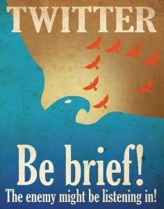 Twitter be brief