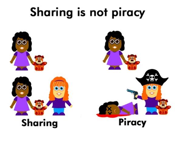 Partilhar não é piratear