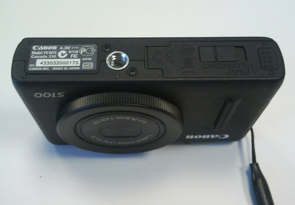 Canon S100 serial number