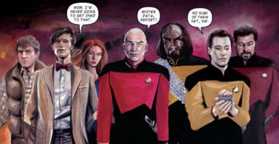 Star Trek meets Dr. Who comics