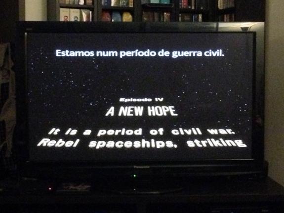 Star Wars em casa