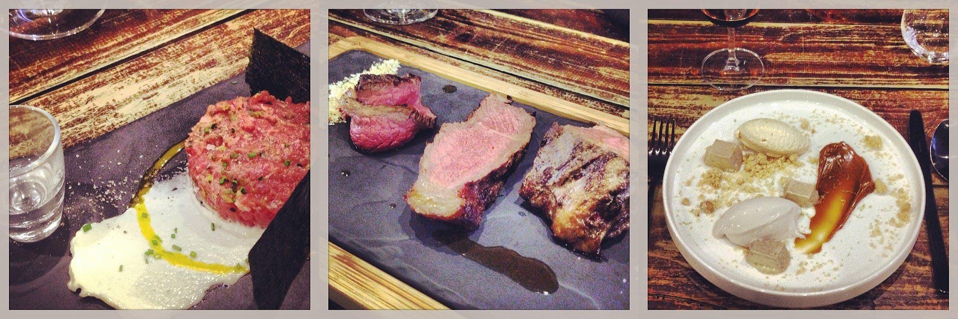 Detalhes da refeição no restaurante O Talho