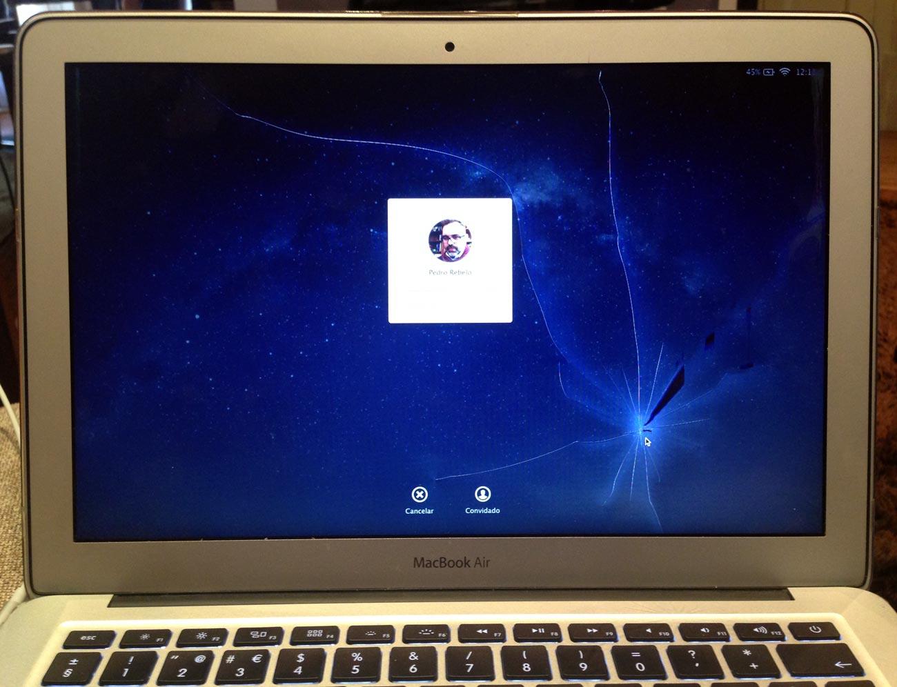 Broken Macbook Display