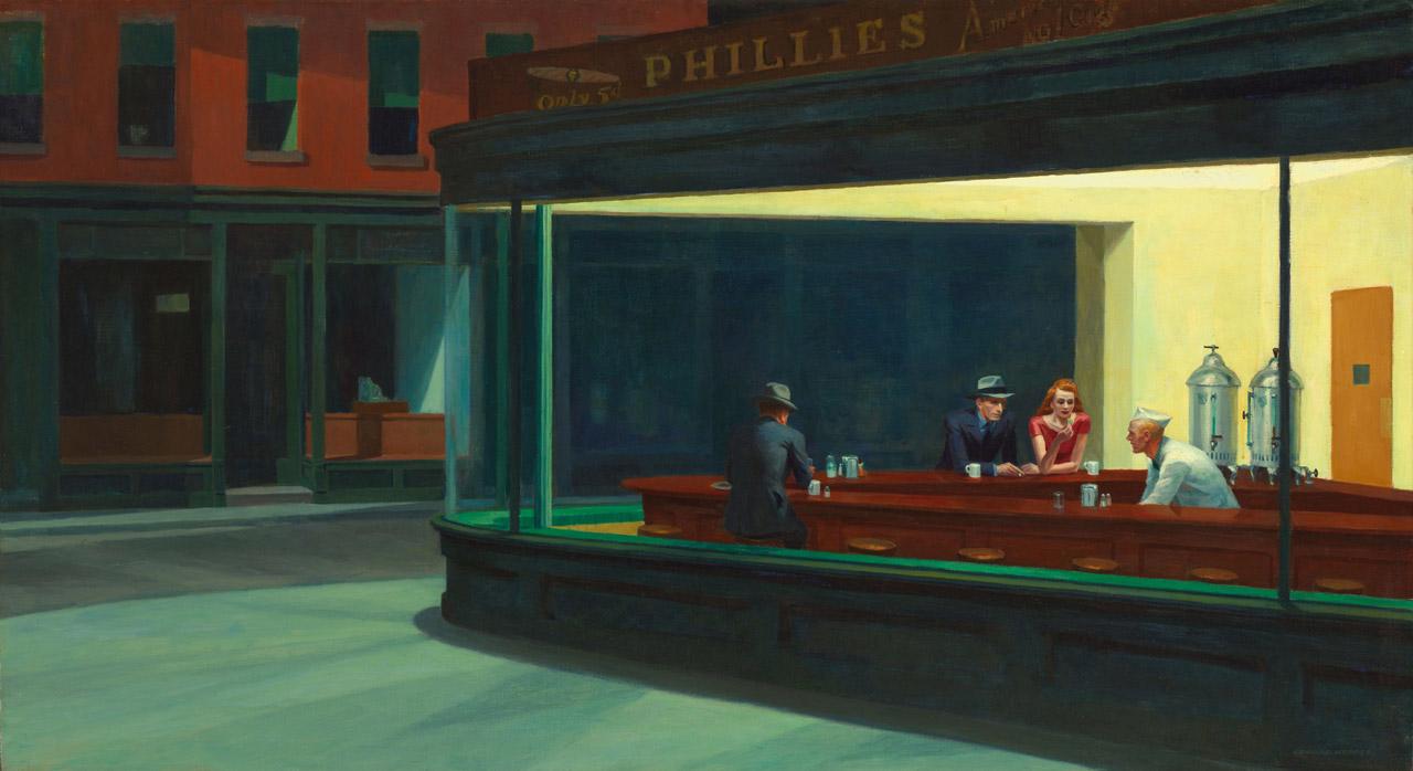 Nighthawks Edward Hopper  - Descaradamente sacada da Wikipedia