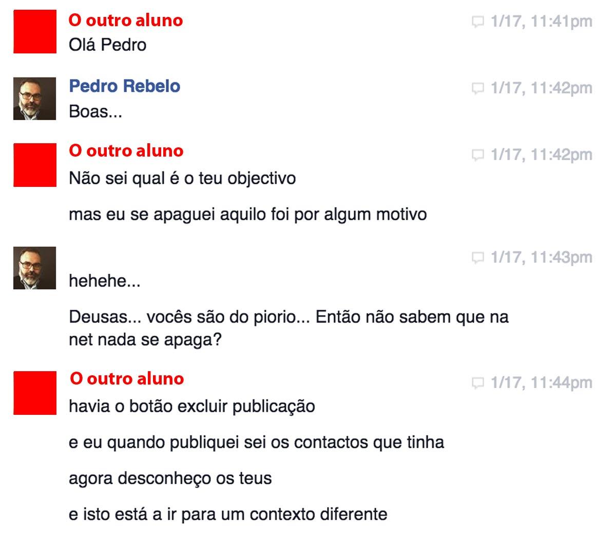 """Pedro Rebelo a """"dar formação em redes sociais"""" :)"""