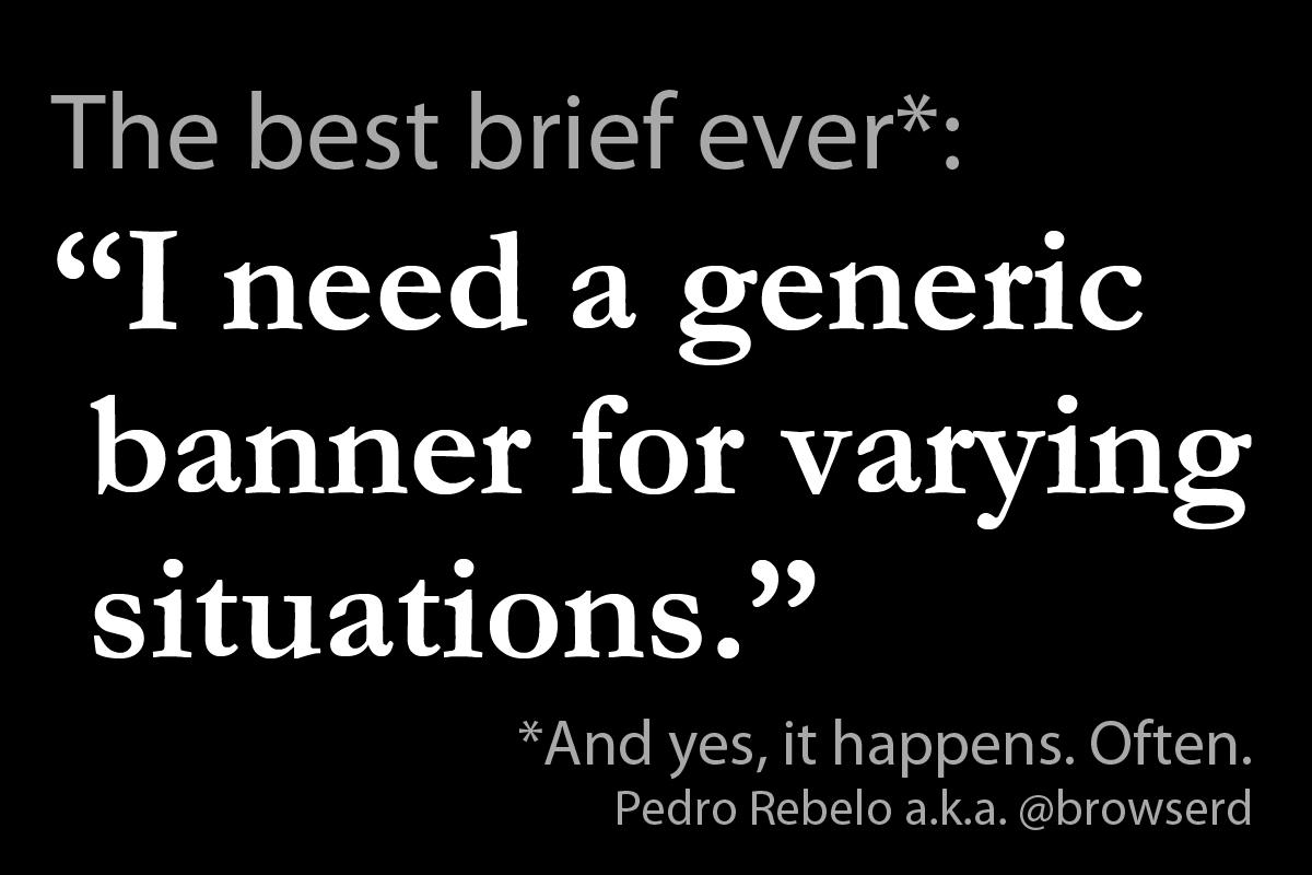 Pedro Rebelo - O melhor brief de sempre