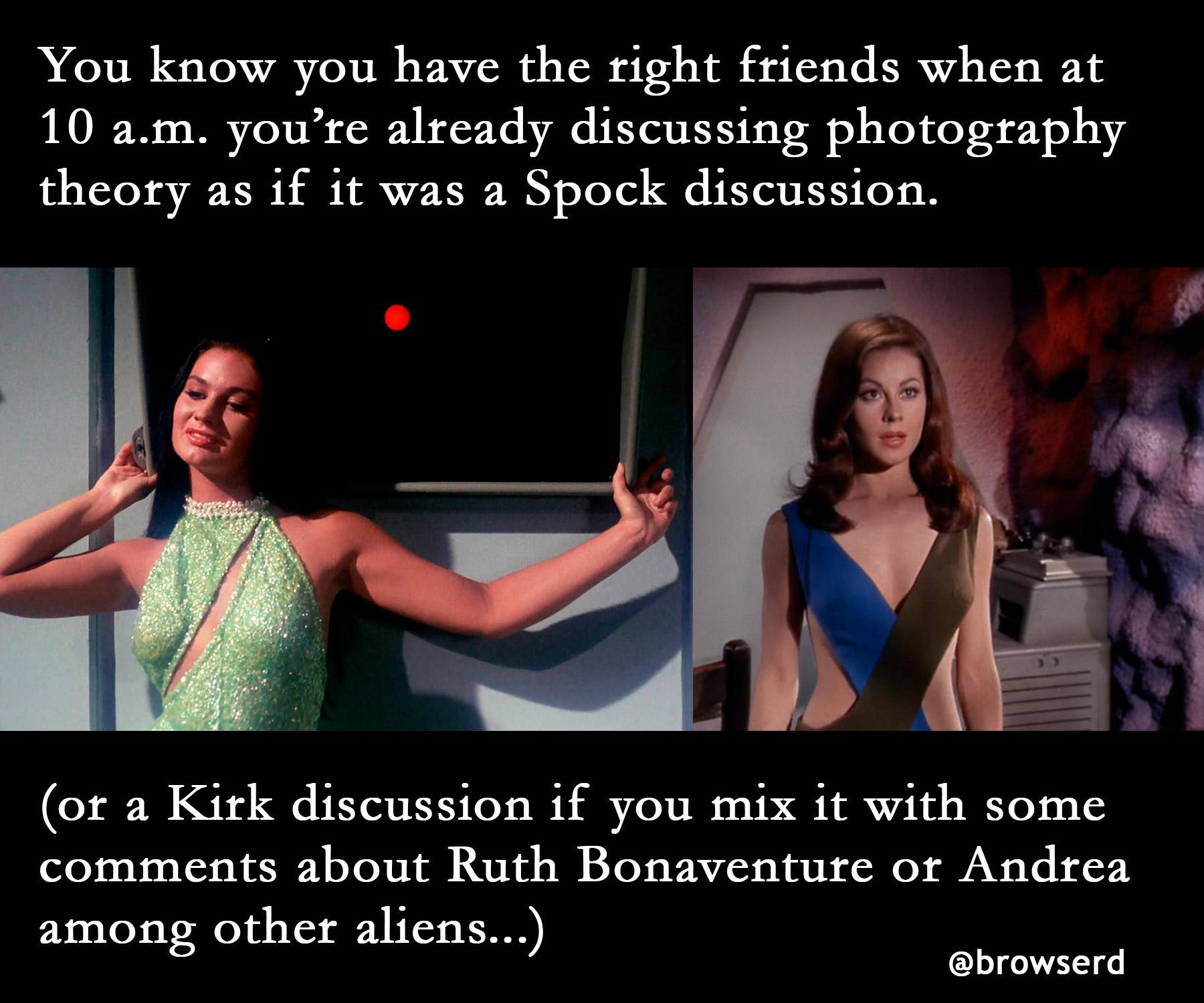 Star Trek, Teoria da Fotografia e amigos