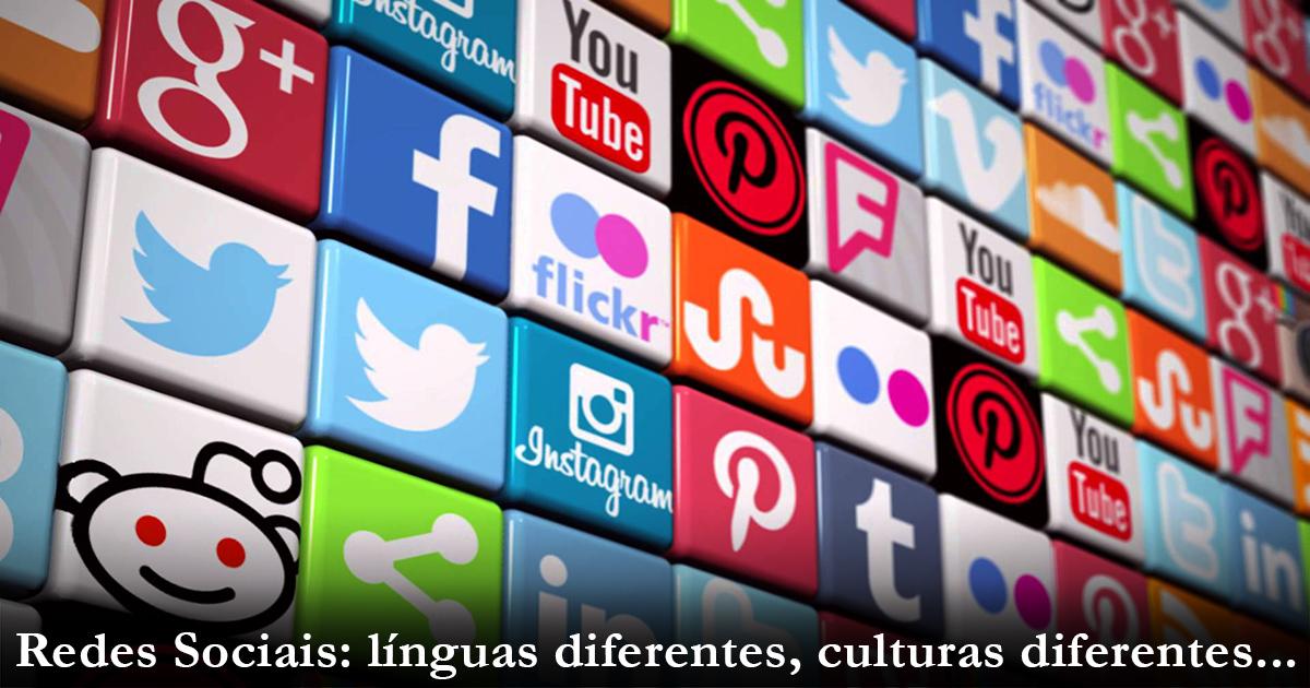 redes sociais diferentes culturas diferentes